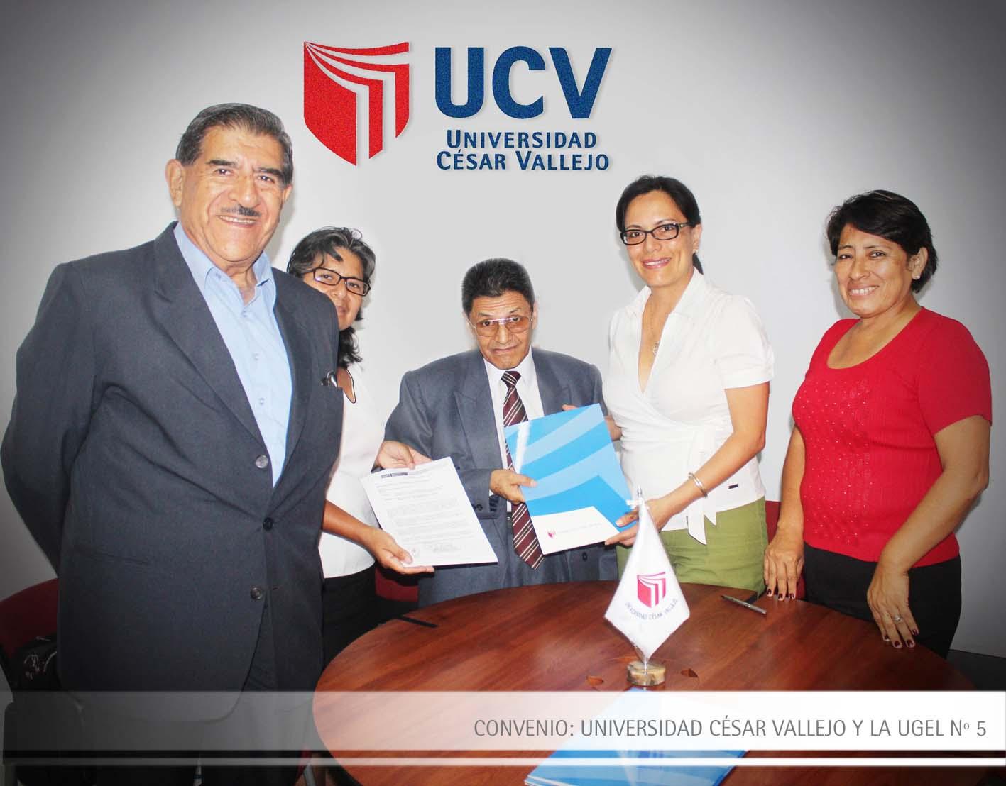 CONVENIO: UNIVERSIDAD CÉSAR VALLEJO Y LA UGEL Nº 5
